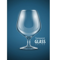 Glass goblet for brandy drinks vector