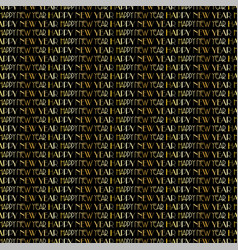 gold black new years eve typography pattern vector image vector image