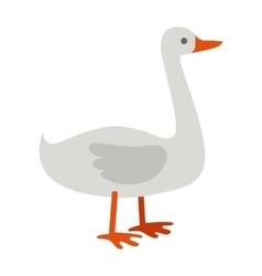 Goose flat design on white vector