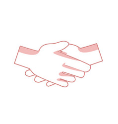 Handshake friendship partnership stroke icon vector