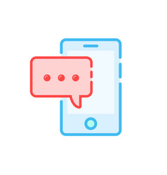 message notification like chat in smartphone vector image vector image
