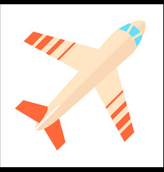 modern airplane isolated icon vector image