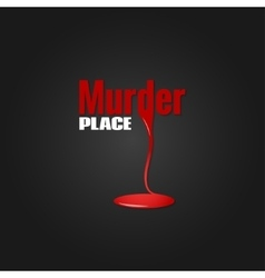 murder blood design background vector image