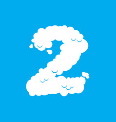 number 2 cloud font symbol white alphabet sign vector image vector image