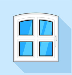 One door plastic window icon flat style vector