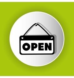 Open advert icon symbol design vector