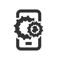 Phone with gears vector