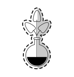 plant in test tube icon imag vector image vector image
