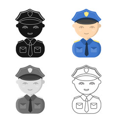 policeman cartoon icon for web and vector image