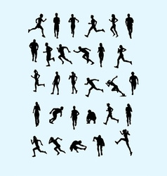 Running Silhouette vector image vector image