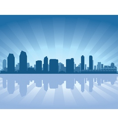 san diego skyline vector image vector image