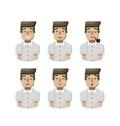 set male avatar with wide smile vector image