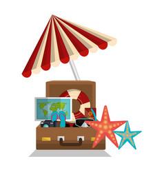summer vacations holidays icons vector image