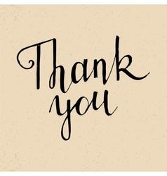 Thank you handwritten lettering vector