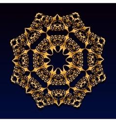 Vintage gold lace ornament vector