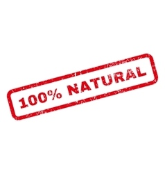 100 percent natural text rubber stamp vector