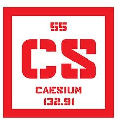Caesium chemical element vector