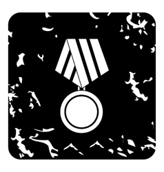 Medal of honor icon grunge style vector image