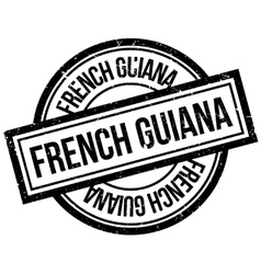 French guiana rubber stamp vector