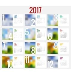 Calendar 2017 design stationery template vector
