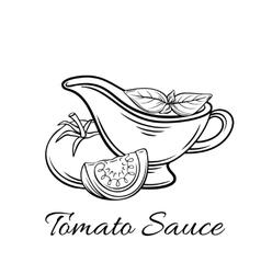 Badge tomato sauce logo food product vector