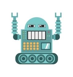 Robotic operator machine technology vector