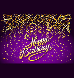 Purple party background happy birthday vector