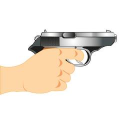 gun in hand vector image