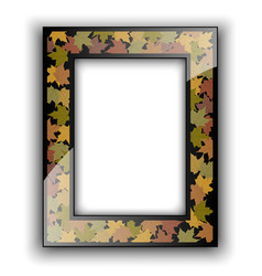 Glass photo frame Autumn design vector image
