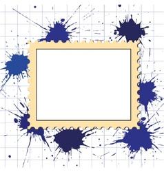 Vector postage stamps frame pattern vector