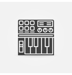 Synthesizer icon or logo vector