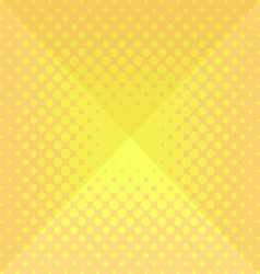Halftone origami design background vector