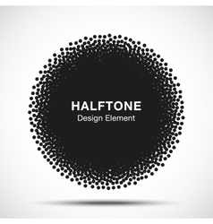 Abstract halftone dots circle vector