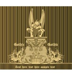 dark gothic emblem vector image
