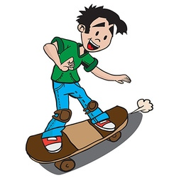 Boy on skate vector
