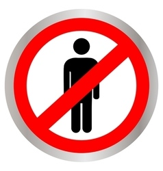 No people allowed no man sign vector