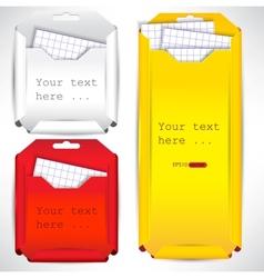 Set of paper envelopes vector image