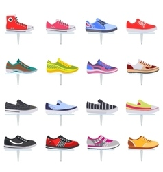sport shoes sneakers collection set vector image