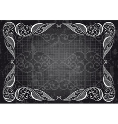 Abstract ornamental frame vector
