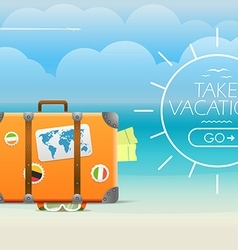 Summer seaside vacation travel vector