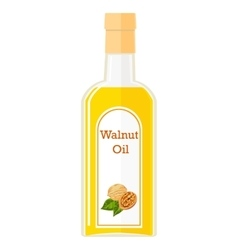 A bottle with walnut oil vector