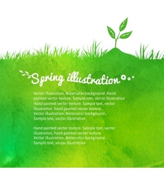 Background with growing sprout vector