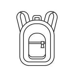 Backpack icon in outline style vector