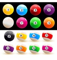 billiard balls set vector image