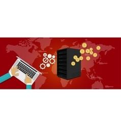 Bit coin mining server vector