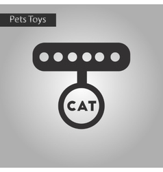 black and white style icon cat collar vector image