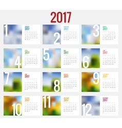 Calendar 2017 design stationery template vector image vector image