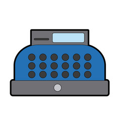 Cash register equipment for the shop vector