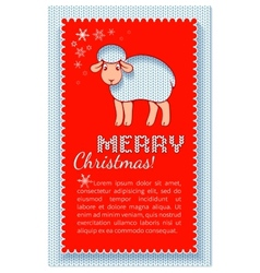 Christmas layered red card vector image
