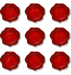 collection of wax seals vector image vector image